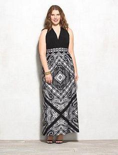 4232a1a753b Plus Size Scarf Print Maxi Dress Graduation Attire