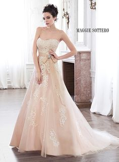 Maggie Sottero Ellarae available at Michelle's Bridal & Tuxedo. Call to schedule your appointment today! 217-384-7914