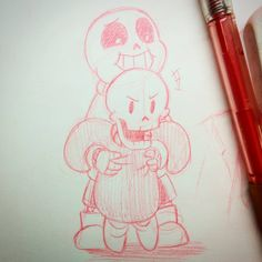 Lil Pap found a monster and he must protect big brother at all costs! (He found a lady bug) << i'm gonna fucking cry pAPYRUS MY SO N Love Drawings, Art Drawings, Undertale Drawings, Undertale Pictures, Fox Games, Toby Fox, Undertale Cute, Kawaii, Best Games