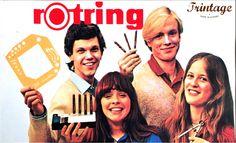 Autocolante publicitário de canetas Rotring