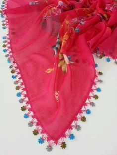 This Pin was discovered by Eli Embroidered Clothes, Needle Lace, Useful Life Hacks, Crochet Lace, Scarf Crochet, Lace Scarf, Needlework, Diy And Crafts, Embroidery