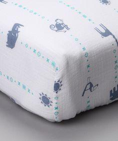 Love this Blue Zoo Organic Muslin Crib Sheet on #zulily! #zulilyfinds