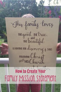 How To Create a Family Mission Statement Family Mission Statements, My Life Plan, Math Classroom Decorations, Homeschool Blogs, Family Command Center, Gift Guide For Him, Multiplication For Kids, Create A Family, Christian Families
