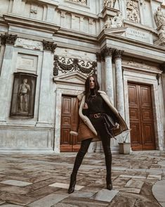 Model Street Style, Winter Outfits Women, Leather Skirt, Hipster, Wonder Woman, Superhero, Clothes For Women, Chic, How To Wear