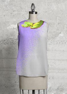Top in polysilk. Art design by JWL. Buy it on www.shopvida.com. Price 75.00 USD