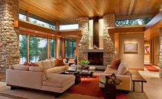 Living 2  (North Lindstrom Lake House by Charles R. Stinson Architects)