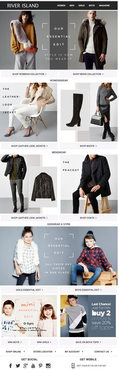 River Island | newsletter | fashion email | fashion design | email | email marketing | email inspiration | e-mail