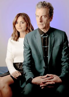 Peter Capaldi and Jenna Coleman for LA Times - 2014