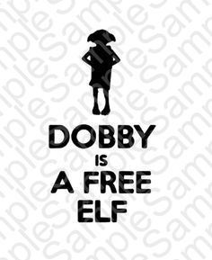 Dobby is a Free Elf  SVG and DXF Cut Files