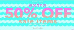 Forever 21 Canada Sale: Save an Extra 50% Off Sale Items with Promo Code & More Offers http://www.lavahotdeals.com/ca/cheap/21-canada-sale-save-extra-50-sale-items/175596?utm_source=pinterest&utm_medium=rss&utm_campaign=at_lavahotdeals