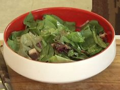 oldfatguy.ca   A Food Blog by a Fat Old Guy Bacon Spinach Salad, My Favorite Food, Favorite Recipes, A Food, Good Food, Friend Recipe, Mouth Watering Food, Stuffed Green Peppers, Dressings
