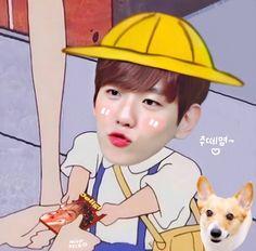 Baekhyun, Exo Kokobop, Park Chanyeol Exo, Exo Cartoon, Adventure Time Wallpaper, Exo Anime, Exo Fan Art, Exo Memes, Kpop