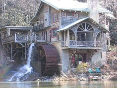 Lake Sequoyah Water Mill in Highlands, NC. Old Grist Mill, Highlands Nc, North Carolina Homes, Highlands North Carolina, Carolina Usa, Water Powers, Water Mill, Old Barns, Le Moulin