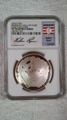 2014 Baseball HOF Silver Proof Curved Coins.....a first