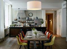 Dining room / Eames fiberglass DSW chairs / Soho House Berlin