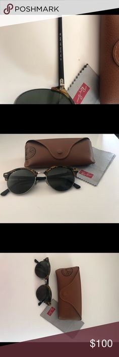 c85bc5fc1b1f Ray Bans Clubround Tortoise Shell/Black These sunnies are in perfect  condition! I'