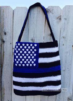 Ravelry: Thin Blue Line Tote Bag by Heidi Yates