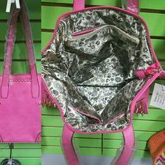 Handbag Hot pink spiked/studded bag Bags Shoulder Bags