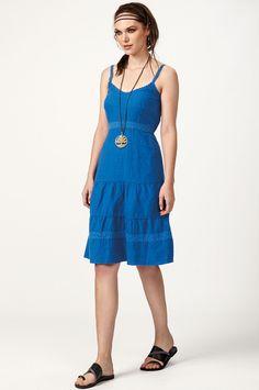 Φόρεμα τιραντάκι με βολάν (8131) Linen Dresses, Summer Dresses, Fashion, Moda, Summer Sundresses, Fashion Styles, Fashion Illustrations, Summer Clothing, Summertime Outfits