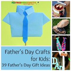 UPDATED! Father's Day Crafts for Kids: 39 Father's Day Gift Ideas | AllFreeKidsCrafts.com