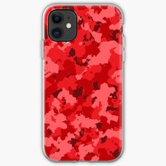 'Red Camouflage design' iPhone Case by MidnightBrain Iphone Wallet, Iphone 11, Cell Phone Cases, Iphone Case Covers, Camouflage, My Arts, Samsung Galaxy, Throw Pillows, Art Prints