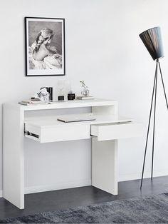 Home Office, Office Desk, Bureau Simple, Teresa, Elle Decor, Console, Inspiration, Furniture, Offices