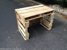 3 pallets piled up to make stand - Google Search