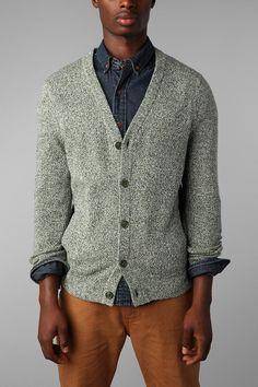 O'Hanlon Mills Marled Lambswool Cardigan Sweater (love the whole look)