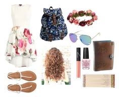 """""""Sophie's 2nd floral outfit"""" by demonchibi1687 on Polyvore featuring Aéropostale, Forever 21, NARS Cosmetics, OPI and Kate Spade"""