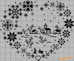 vánoční křížová výšivka