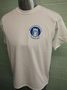 For Kingsthorpe Grove Primary School – These short sleeved Class of 2016 leavers white t-shirts look FAB. With custom logo print on the front and custom Leavers print on the back for 2016.