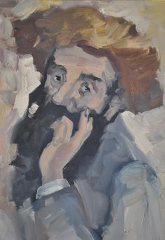 """Original Oil Painting of an Arab Man by Israeli Artist Moshe M. Impressionist c. 1960s Painting measures 23"""" x 15.5"""" inches and frame measures 25"""" x 17.5"""". This does not appear to be by Moshe Mokady,"""