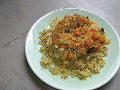 Quinoa con verduras Grains, Rice, Club, Cooking, Food, Soy Sauce, Homemade Recipe, Appetizers, Food Processor