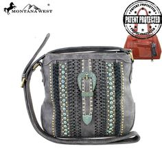 Montana West Patina Buckle Concealed Crossbody