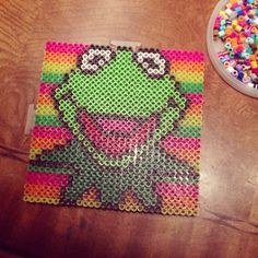 Kermit the frog perler beads by miceandmagic