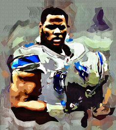Ndamukong Suh Cubism Abstract Painting - Virtual Painter 6.