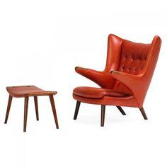HANS WEGNER; A.P. STOLEN Papa Bear chair, ottoman