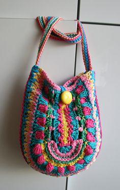 Crochet pattern crochet bag pattern crochet color by LuzPatterns #crochetpatterns #colorcrochetbag #crochetbagpattern