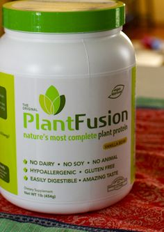 Plant Fusion, plant based protein powder. No diary, animal product, gluten, or soy. NON-ALLERGENIC PLANT BASED PROTEIN SHAKE GREAT FOR KIDS PRIOR TO SCHOOL ALONG WITH SOME FLAX MILK WITH OMEGAS.