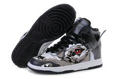 Nike Dunk Custom Big Bad Wolf Black Grey