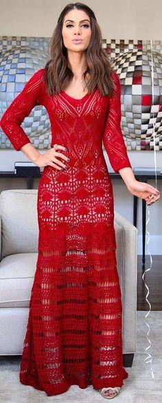 Vestidos Crocheta Clássico -  /    Dresses Crochet Classic -