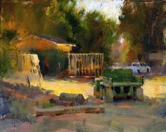 'Little Green Tractor' by Jennifer McChristian Oil ~ 8 x 10