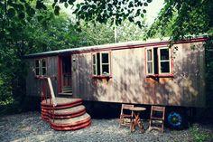 | Hercules Caravan | Hercules is a hand built cedar living wagon set in his own little piece of woodland.
