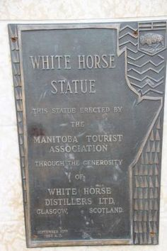 About the statue, White Horse Plain Monument | Highway 26, Saint Francois Xavier, Manitoba, Ca