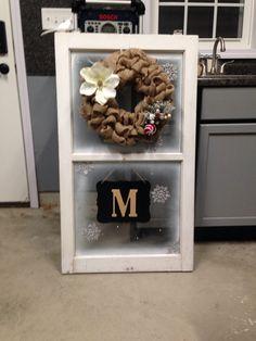 Window wreath monogram