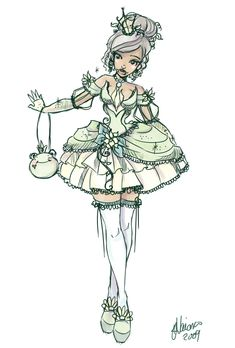 Pricess Tiana Lolita Sketch by NoFlutter on DeviantArt