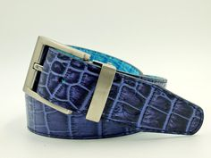 Blue alligator reversible belt www.aceofclubsgolfco.com