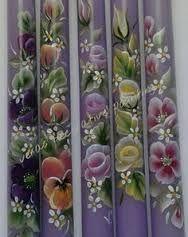 Αποτέλεσμα εικόνας για πασχαλινες λαμπαδες ζωγραφισμενες στο χερι One Stroke Painting, Easter Crafts, Cross Stitch Patterns, Art Projects, Hand Painted, Farmhouse, Nail, Candles, Manualidades
