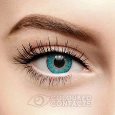 The 90 Day Coloured Contact Lenses in Tri Tone Aqua feature a bright blue finish. These reusable contacts are perfect for Cosplay, Halloween or any other fancy dress occasion. Available in one size.