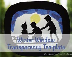 A free printable template for making your own winter window transparency for your Waldorf-inspired homeschool.